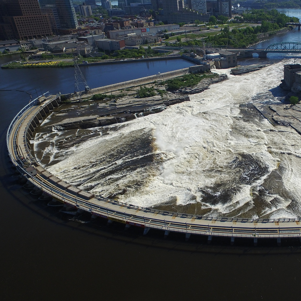 Chaudiere Falls from top
